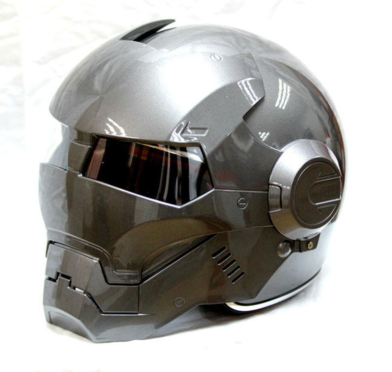 free shipping 2015 hot masei gray ironman iron man helmet motorcycle half helmet open face. Black Bedroom Furniture Sets. Home Design Ideas
