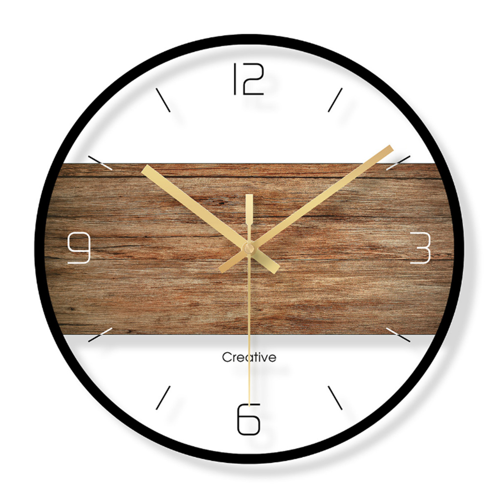 Silent Wall Clock Vintage Retro Modern Design Simple Wooden Wall Clocks Bedroom Home Decor Hanging Watch timer 2018