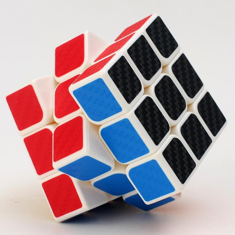 3 * 3 * 3 Karbon Fiber Sticker El Spinner Neo Küpler Hız Oyunu - Oyunlar ve Bulmacalar - Fotoğraf 4