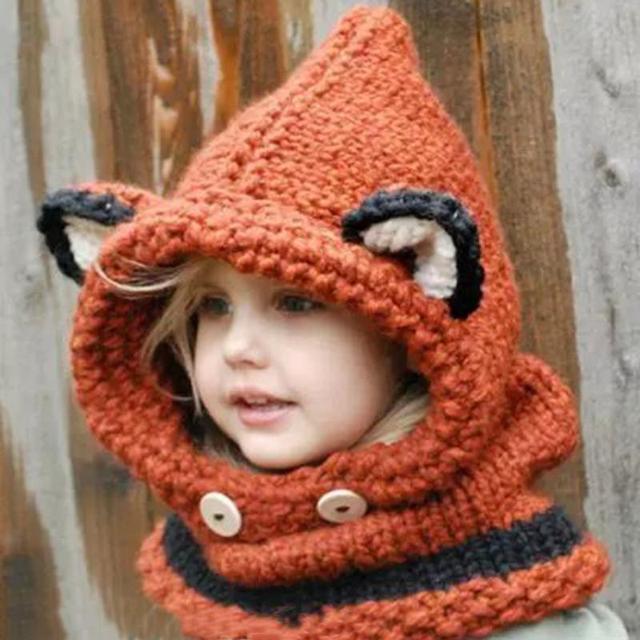 Aliexpress.com : Buy Malloom Hat Warm winter Wool Knitted Fox Cat ...