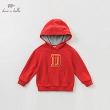 DBK9077 dave bella/От 5 до 13 лет; Модный пуловер с капюшоном для мальчиков; детские толстовки с длинными рукавами; Изысканные красивые топы для малышей