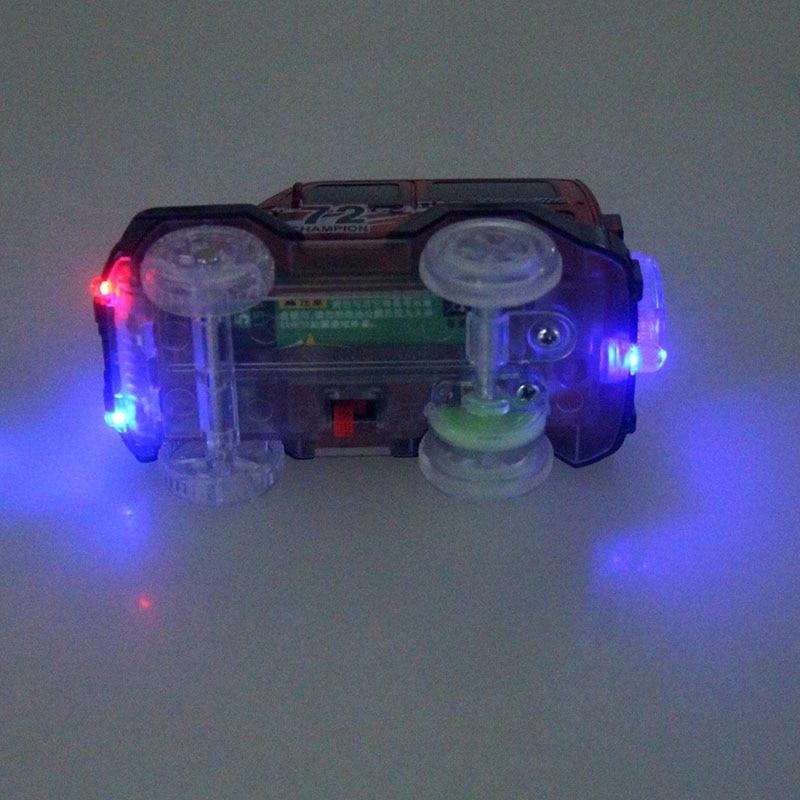 Pista flexible DIY Toy Slot Car Kit con luz LED Coche brilla en la - Vehículos de juguete para niños - foto 6