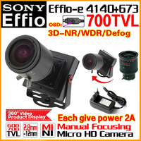 2017NewStyle Manual Focusing 2 8mm 12mm Lens 1 3 Sony CCD Effio 4140 673 700TVL Analog
