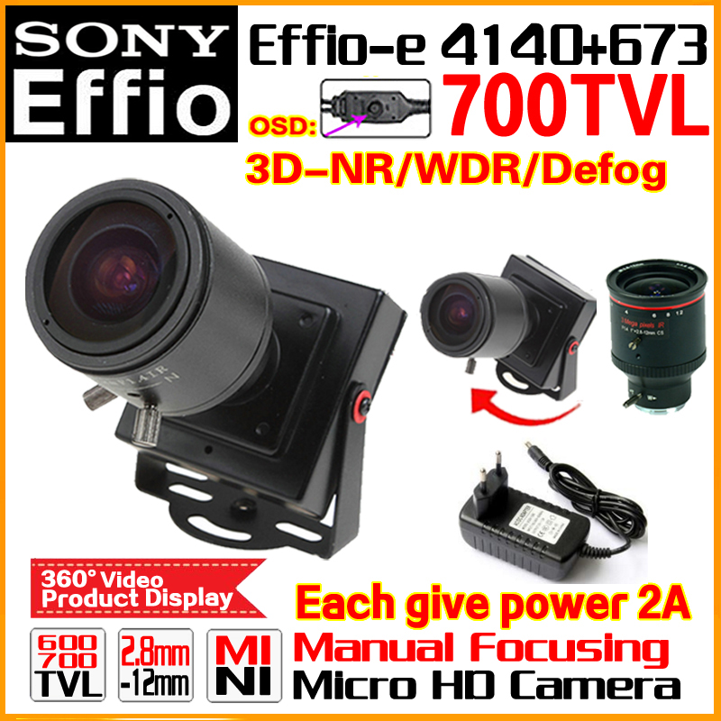 low illumination 1 3 sony ccd 700tvl with 3 6mm hd lens and audio function and osd function Hot HD Zoom Manual Focusing 2.8mm-12mm Lens 1/3Sony CCD Effio 4140+673 700TVL Analog Security Surveillanc Osd Mini Cctv Camera
