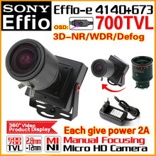 Hot HD Zoom Manual Focusing 2.8mm-12mm Lens 1/3″Sony CCD Effio 4140+673 700TVL Analog Security Surveillanc Osd Mini Cctv Camera