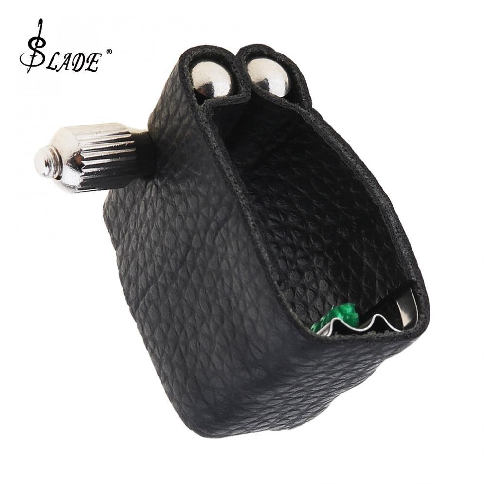 Durable Leather  Ligature Alto Sax Mouthpiece Clip With Metal Pad For Alto Saxophone