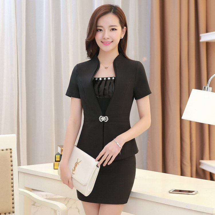 Cool Summer 2 Piece Set Women Skirt Suit 2015 Elegant Half Business Formal Suits Work Office Style ...