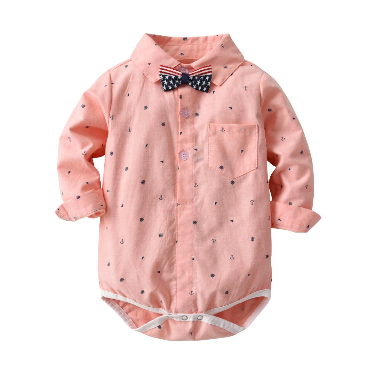 HI&JUBER 2019 New Infant Newborn kids Baby Boy Clothes Long Sleeve Shirt Style Romper Kids Jumpsuit Clothing