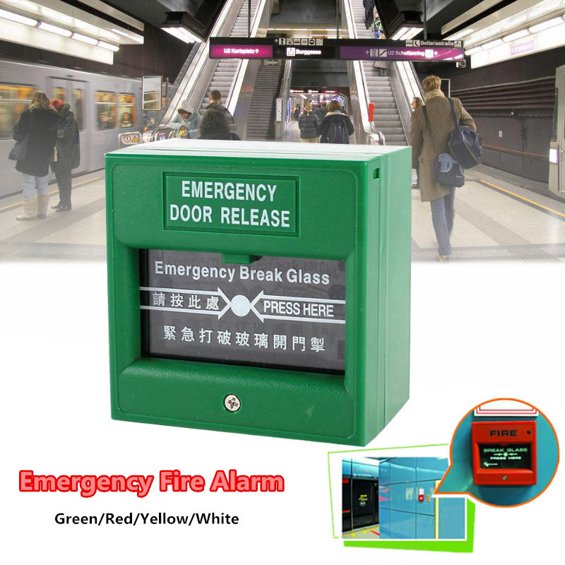Emergency Door Release Fire-Alarm Switch Break Security Glass Exit Button Public Emergency Exit Alarm Safe System Casual Colors