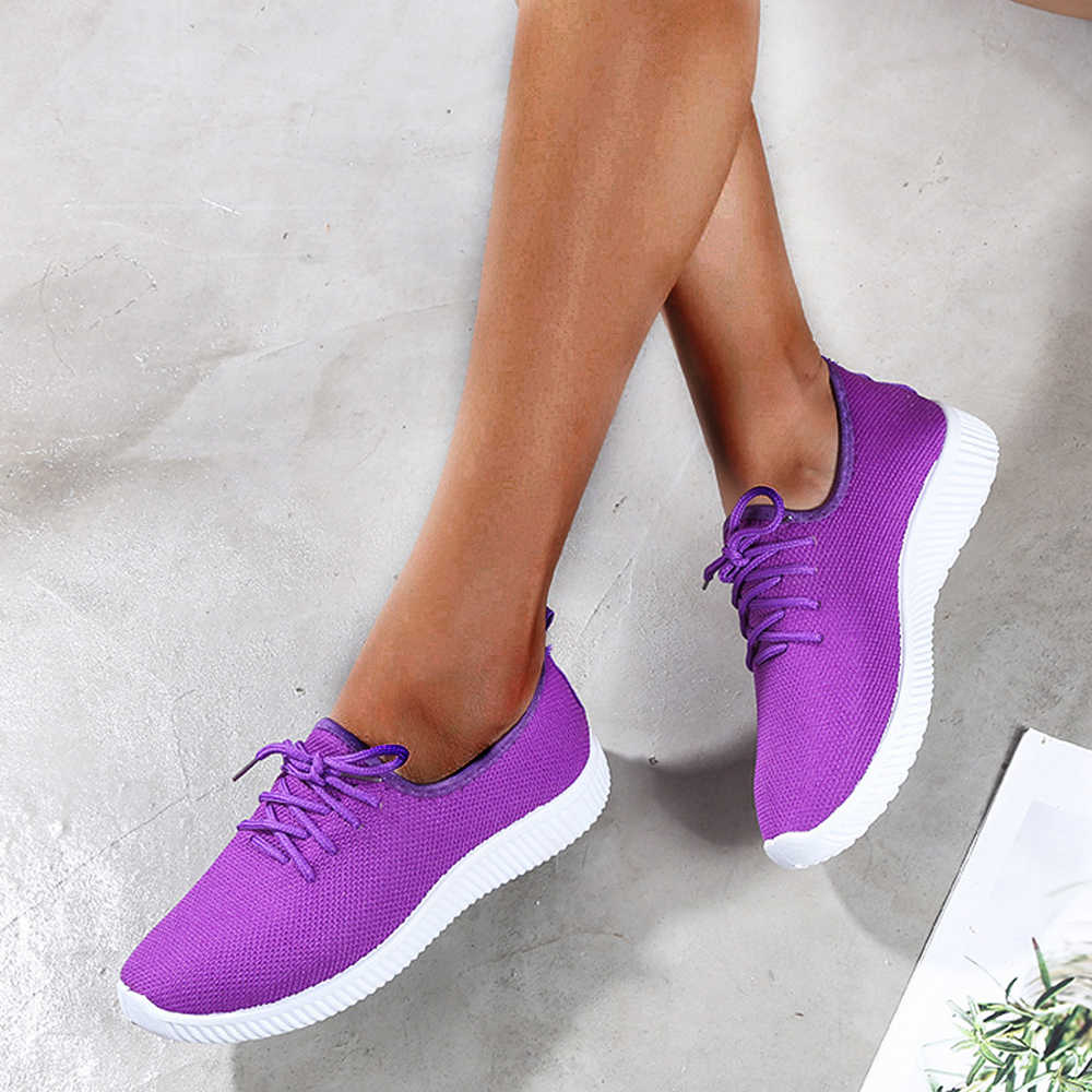 Vertvie en plein air femmes chaussures décontractées respirant marche maille chaussures plates baskets femmes 2019 vulcanisé Tenis Feminino