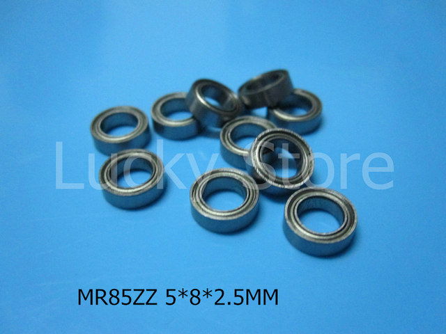 MR85ZZ ABEC-5 bearing 10pcs Metal Sealed Miniature Mini Bearing MR85 MR85ZZ 5*8*2.5 mm chrome steel bearing