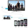 Os mais recentes de Alta Qualidade cabo hdmi 2 M 8 Pinos Para HDMI cabo para iPhone 5/5S/6/6 plus/6 S/6 S Plus/ipad apoio 1080 P TV conexão HDTV
