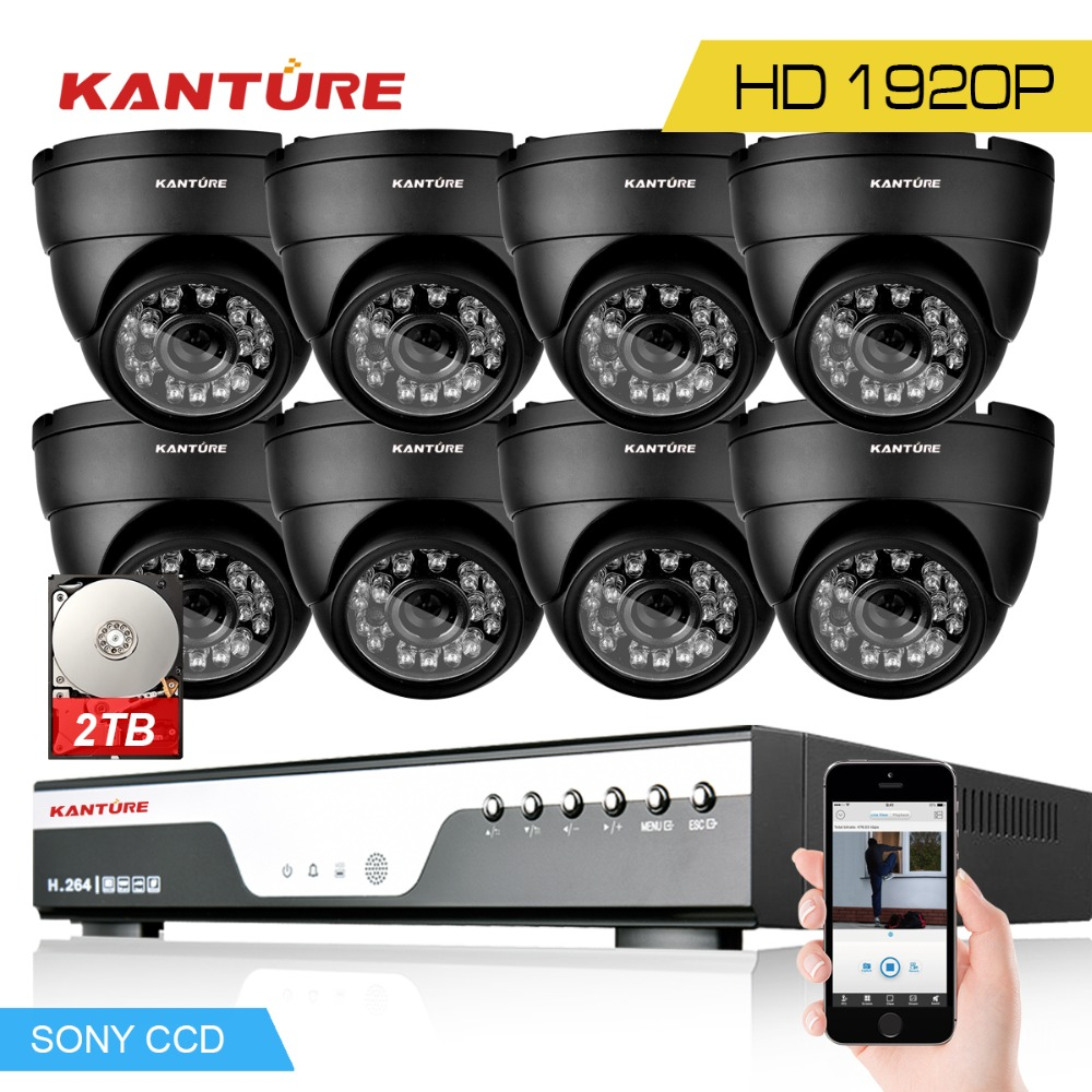 8CH CCTV System 1080P DVR 3MP 1920p SONY IMX322 In Outdoor Video Surveillance Security Camera kit