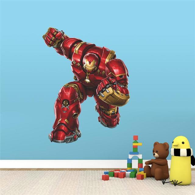 Iron Man Super Hero Wall Stickers Kids Room Decor Avengers A001. Diy Home  Decals Cartoon Part 54
