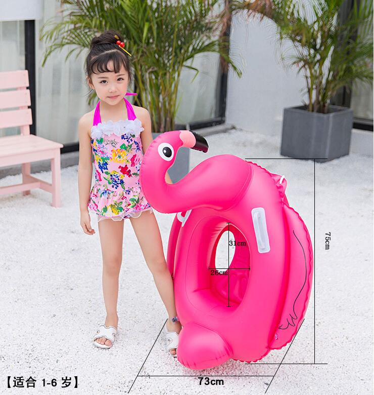 0 1 3 5 years old Swimming pool and accessories Baby child boy girl Seat Float circle pool Inflatable Flamingo Inflatable Water in Accessories from Mother Kids