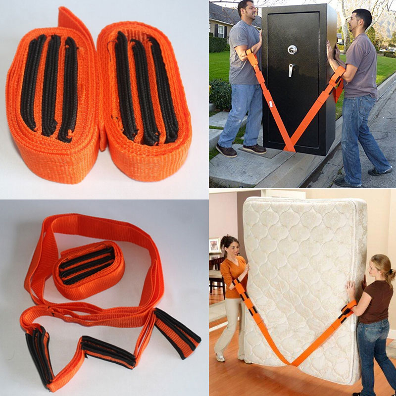 New Style Simple Modern Moving Tools Orange Straps Forearm Forklift Lifting And Moving Furniture Carrying Sofa Bed Desk Tv Furniture Accessories