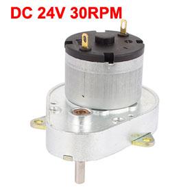 UXCELL Hot Sale 1 Pcs DC 24V 30RPM High Torque 4mm Shaft Diameter Power Gear Box Motor цены