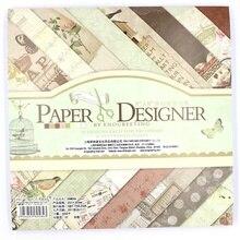 KSCRAFT 40sheets/lot Colorful floral pattern creative papercraft art paper handmade scrapbooking kit set books