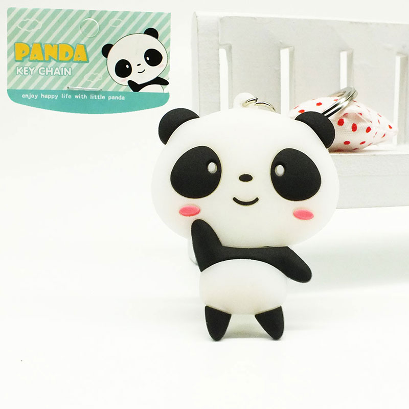 ZOEBER Wholesale Lovely Cartoon Keychains Women Panda <font><b>Cheese</b></font> Cat Key Chains Bag Pendant Car KeyRing Key <font><b>Holder</b></font> Kawaii Gift image