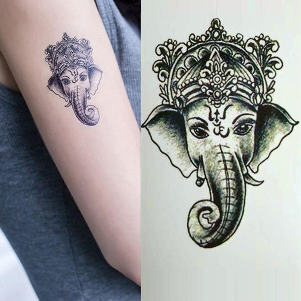 Animal Elefante Tatuajes Temporales Vintage Agua Transferencia Falso