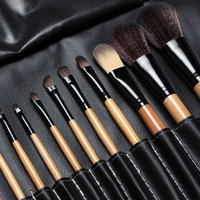 Free Shipping 15 Pcs Soft Synthetic Hair Make Up Tools Kit Cosmetic Beauty Makeup Brush Black