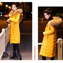 2018 New Winter Jacket women plus size down cotton coat parka women fashion slim jacket thick winter coat big fur collar outwear стоимость