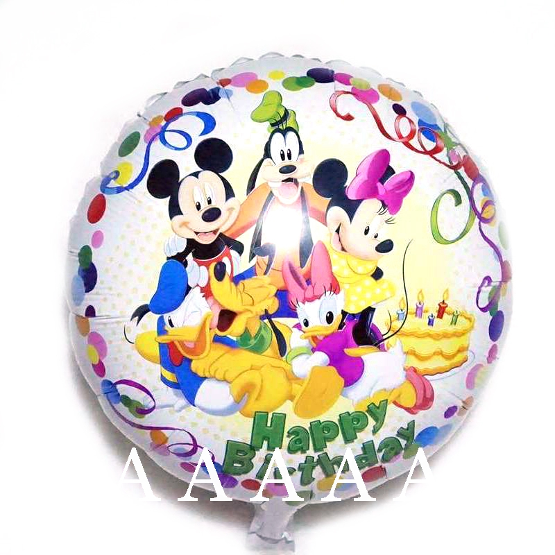 5pc happy birthday balloon mickey balloons18inch foil material mickey minnie mou