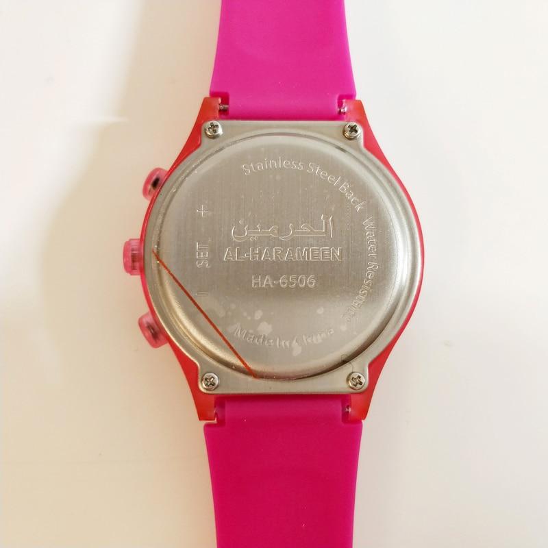Dropshipping Origin Muslim Azan Sports Watch 6506 32mm Prayer Wrist Waterproof  Watch Alfajr Watch