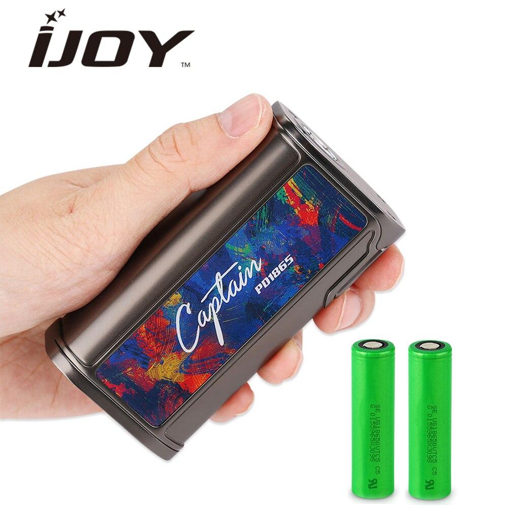 Nouveau IJOY Capitaine PD1865 TC Boîte MOD 225 w 18650 Batterie 0.96 pouce OLED et NI/TI/SS /TCR Mode Firmware Upgradable E-cigarette Vaporisateur Mod