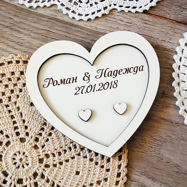 9f99070890 Wedding Rings Holder Heart Wooden Rings Personalized Wedding Ring Pillow  Rustic Ring Dish For Ceremony Custom Wood Ring Holder