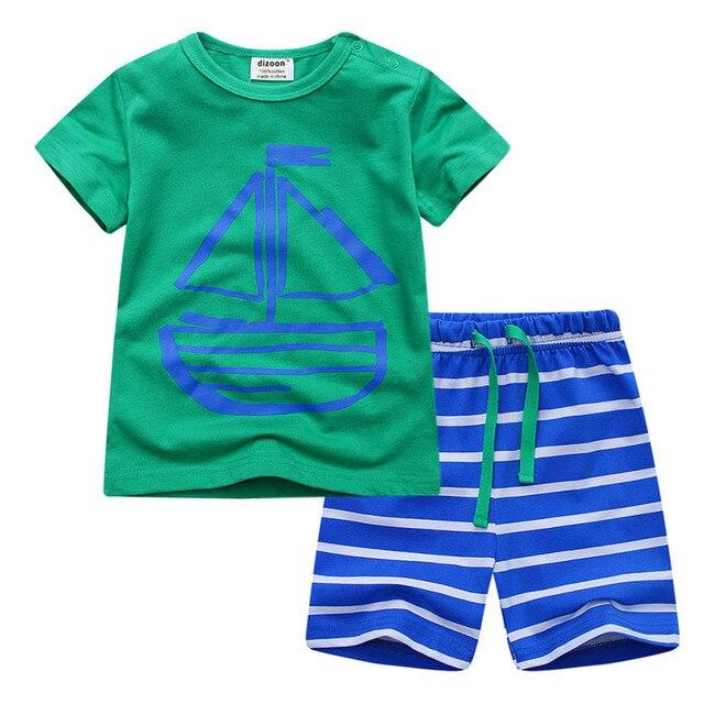 758c600d1 Dizoon Niños Conjuntos de Pijamas de Manga Corta Ropa de Verano para Niños  Niños Niñas Tela