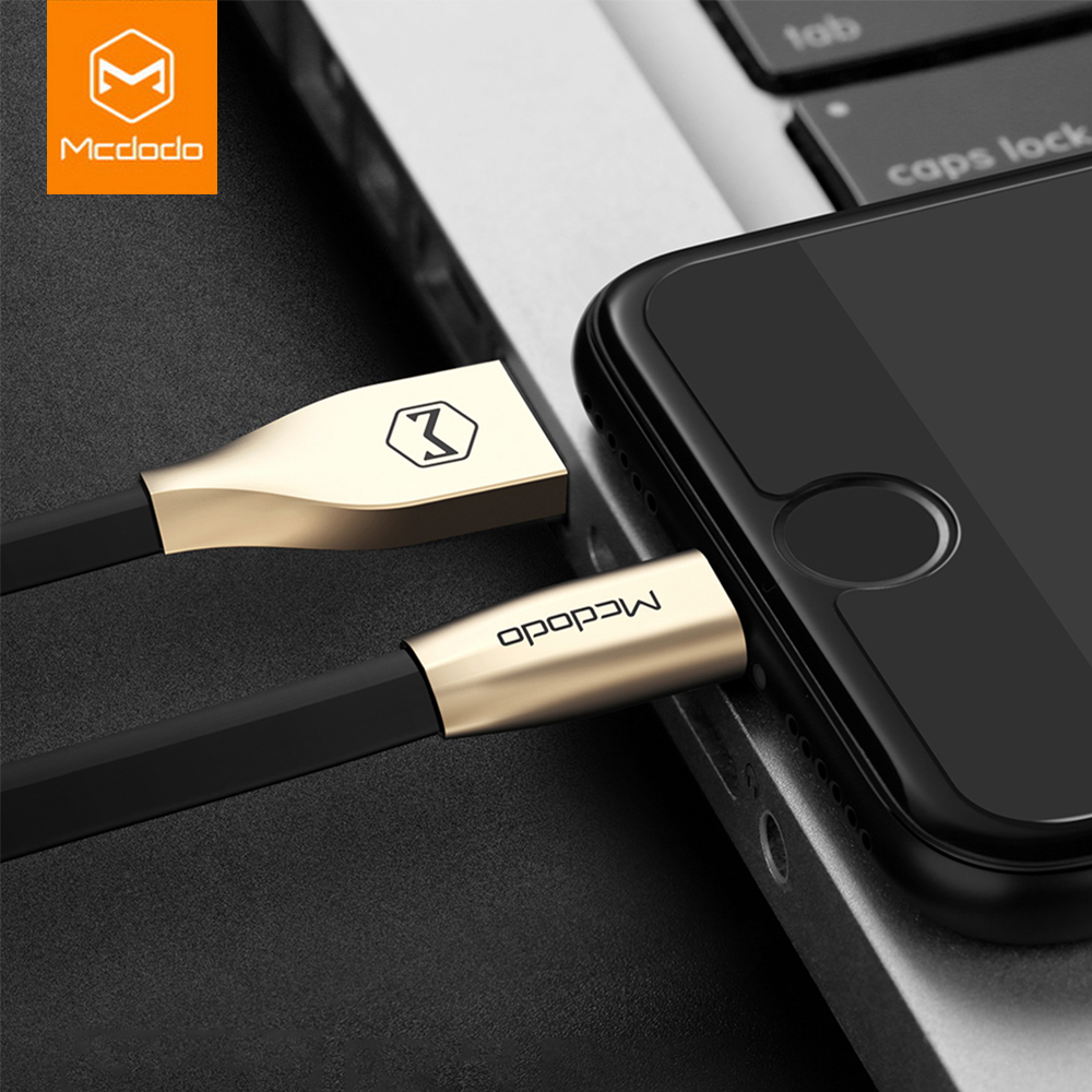 Mcdodo USB Cable For iPhone 7 Plus Zinc Alloy Fast Charger 1m 1.5m Lightning to USB Cable For iPhone 8 5s 6s 6 Charging Cable