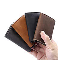 No button original Business Bank ID automatic pop up metal credit card holder wallet rfid blocking aluminum case bag
