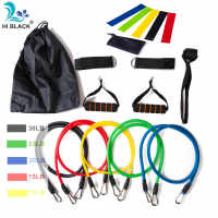 17Pcs/Set Latex Resistance Bands Set Yoga Exercise Fitness Band Rubber Loop Tube Bands Gym Door Anchor Ankle Straps With Bag Kit