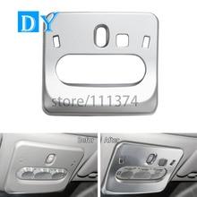Nulla Chrome Matte Surface Interior Front Reading Light Lamp Decoration Trim Frame Cover For Nissan Qashqai 2014 2015 2016 J11