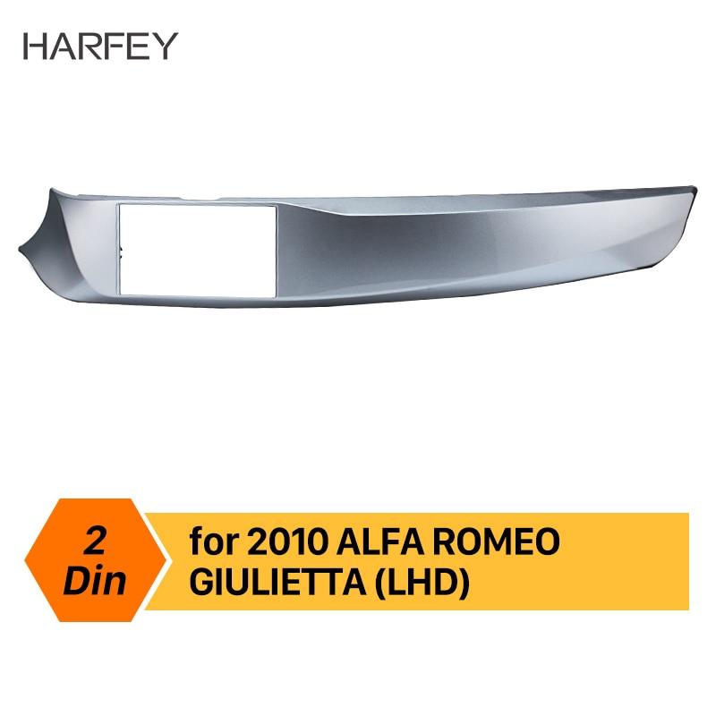 Harfey main gauche DriveCar stéréo cadre Fascia Double Din pour ALFA ROMEO GIULIETTA 2010 2011 2012 2013 2016 tableau de bord Kit de montage