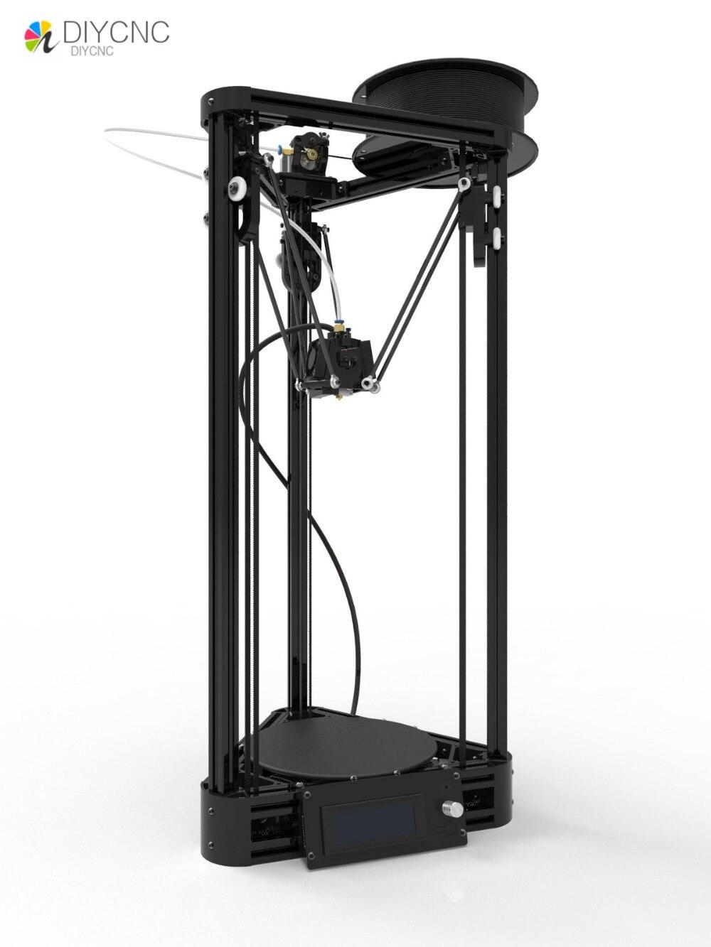 MICROMAKE imprimante poulie version bricolage kit d'apprentissage moulé par injection delta bras parallèle Kossel imprimante 3D