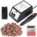 Black/White/Pink 20000RPM 110/220V Electric Nail Drill Manicure Machine + 100 * Sanding Bands Manicure Polishing tool