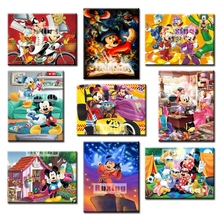 Diamond Painting Cartoon Mickey Mouse Embroidery Crafts Mosaic Picture Of Rhinestones Home Decor