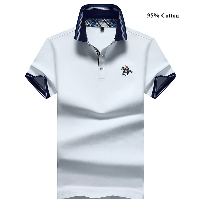 Eden Park Homme Men's   Polo   Shirt Brank Short-Sleeved Shirt Casual Cotton Anti-Pilling Mens Shirts Large Size M-4XL;YA209