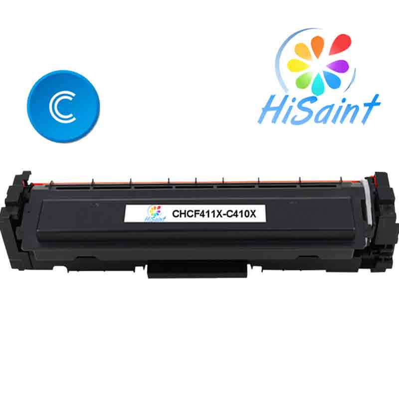ФОТО New[Hisaint] Cyan Toner Compatible for HP Laserjet Pro CF411X M452 dn / dw / nw M470 Tri-Color 5000 pages Free shipping Hot Sale