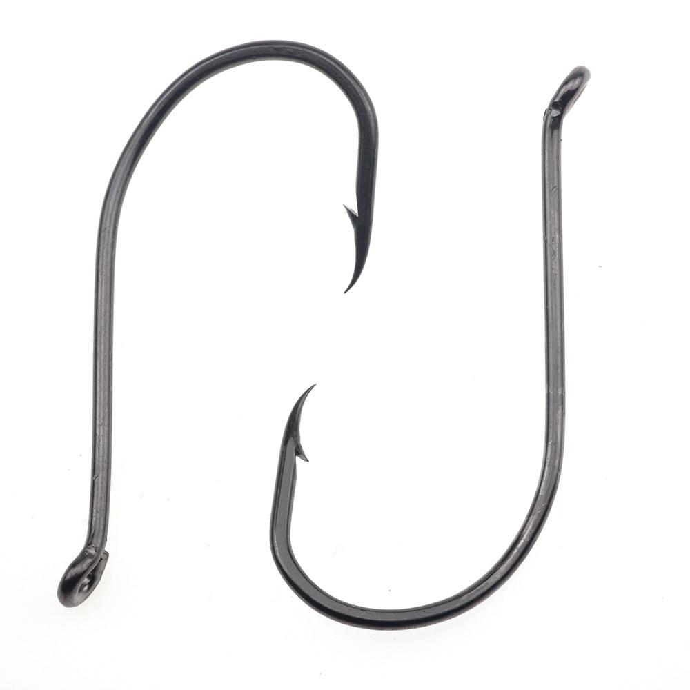 100pcs Octopus Fishing Circle Hooks 8299 High-carbon Steel Black Hook Saltwater