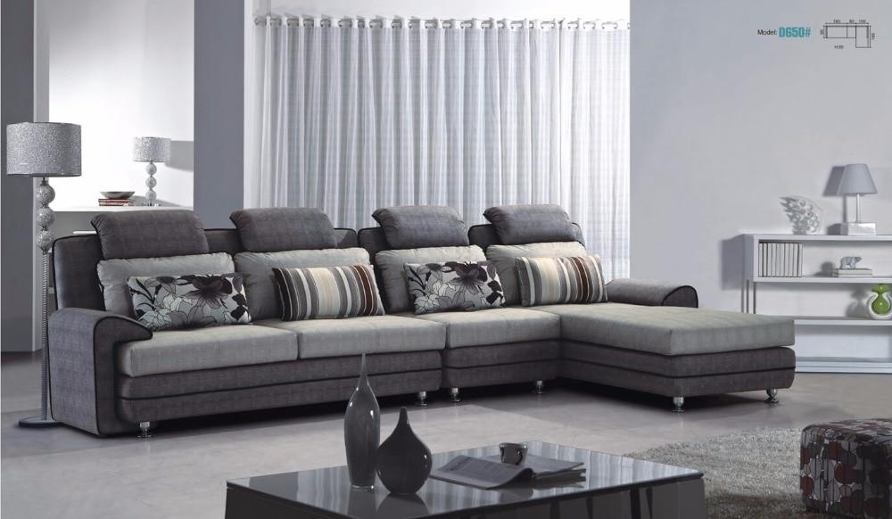 aliexpress koop moderne grijs wasbare fluwelen stof hoekbank