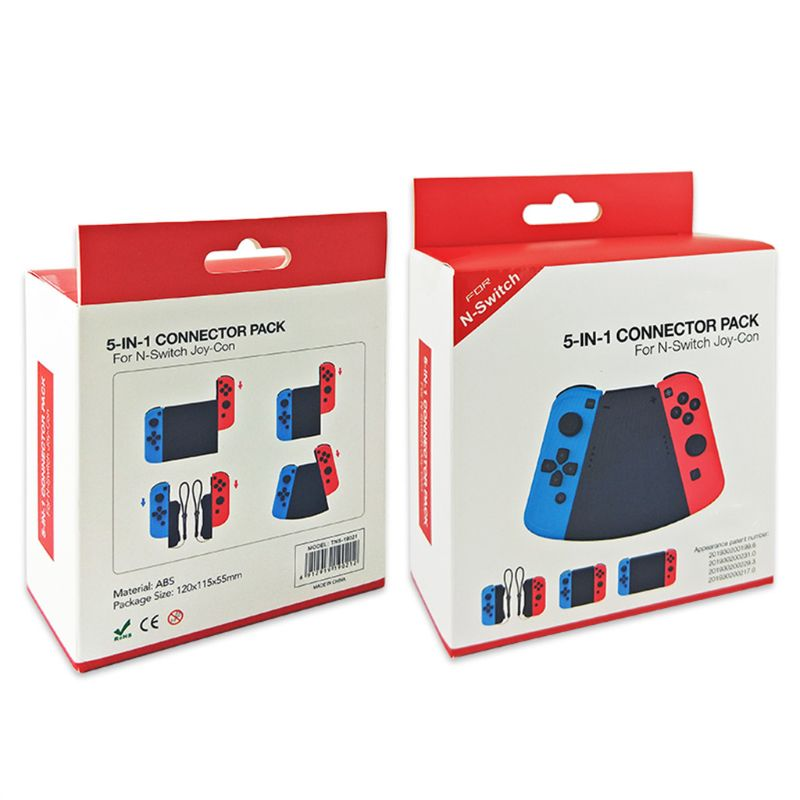 1Set 5 In 1 Connector Pack Left And Right ABS Hand Grip Case Handle Holder Stand Cover For Nintend Switch NS Joy-Con Controller