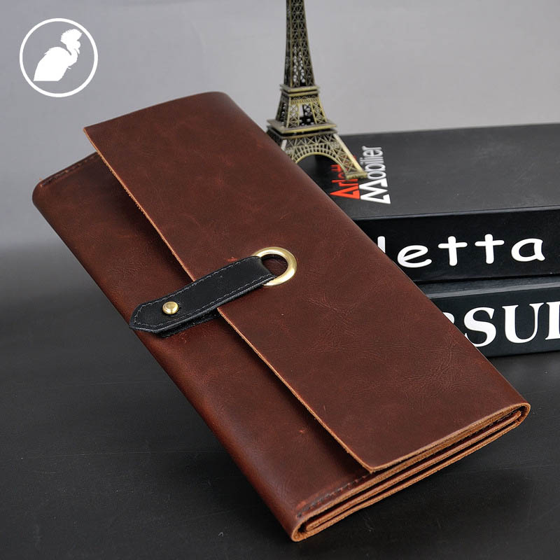 ETONWEAG Famous Brands Leather Credit Card Wallet Men Clutch Bags Brown Vintage Organizer Wallets Luxury Coin Purse Money Purses p kuone business men purse famous luxury brand coin credit card holder male travel long wallet passport cover leather money bag