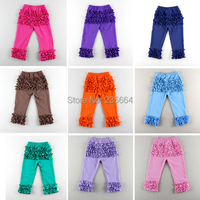 2016 Real Pant Roupas Infantis Menina Free Shipping!wholesale Cotton Baby Girls Toddler Cute Spring Ruffle Pants Kids Triple