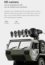 Military Truck 4WD 2.4G APP WIFI Control Truck LED Lights Racing Drift Off-road Vehicle 720P HD Camera FPV Rock Crawler 6.19(China)