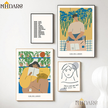 NHDARC Canvas Printings The Unique Renaissance Style of Retro Fashion Characters Posters and Prints Painting Wall Art Home Decor