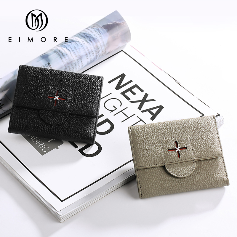EIMORE Designer Luxury Brand Women Wallets Genuine Leather Purse Female Lady Small Walet For Girls Mini Wallets Card Holder miesati long women wallets luxury famous brands designer female bag ladies cute women s purse walet leather carteras card holder