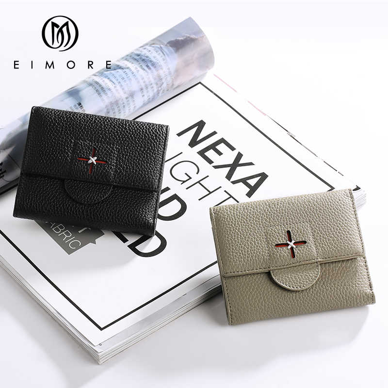 EIMORE дизайнерские Роскошные Брендовые женские кошельки из натуральной кожи кошелек женский маленький кошелек для девочек Мини кошельки Держатель для карт